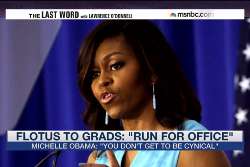 Michelle Obama to grads: Run to the noise!