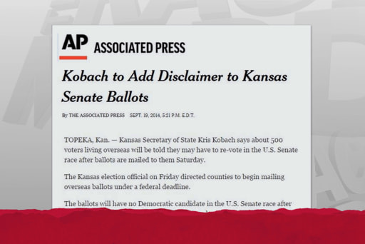 Unprecedented ballot disclaimer set for KS