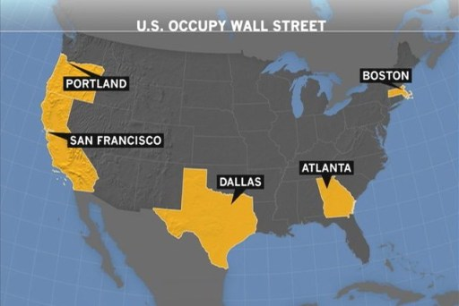 Search MSNBC - Occupy wall street us map