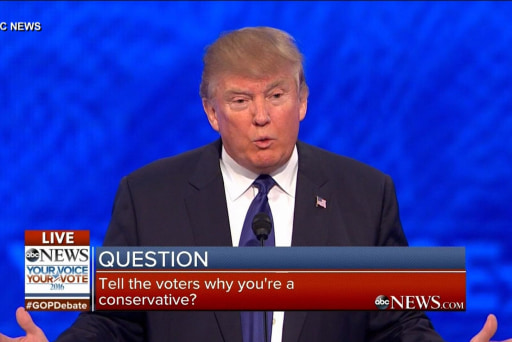 Trump: 'I think I am' a true conservative