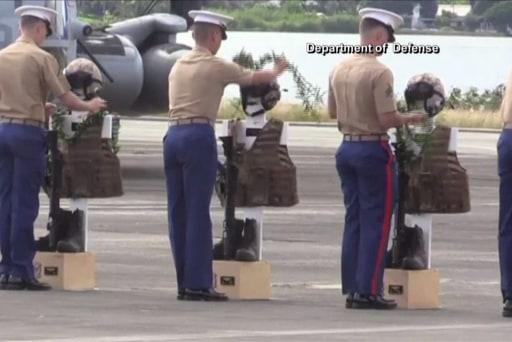 Memorial service held for 12 Marines in...