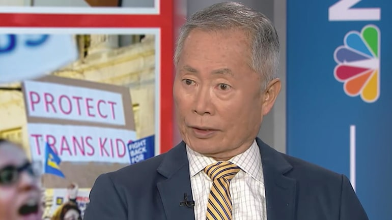 Image result for George takei MSNBC trans rights