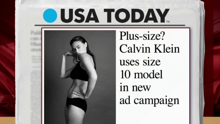 mika: calvin klein model not 'plus-size' | msnbc