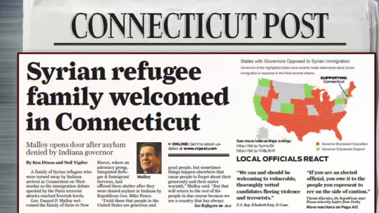 Syrian refugee family welcomed in Connecticut