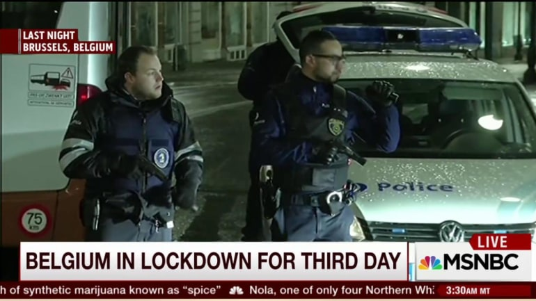 Belgium on lockdown for third day