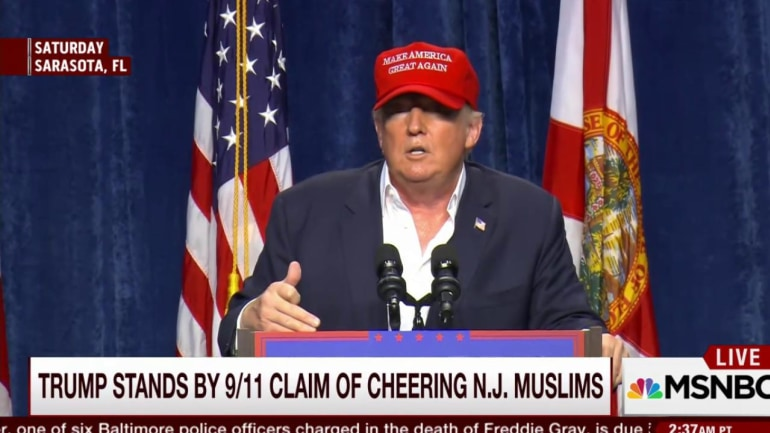Trump stands by 9/11 claim