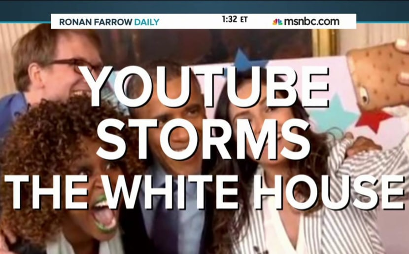 YouTube stars storm White House