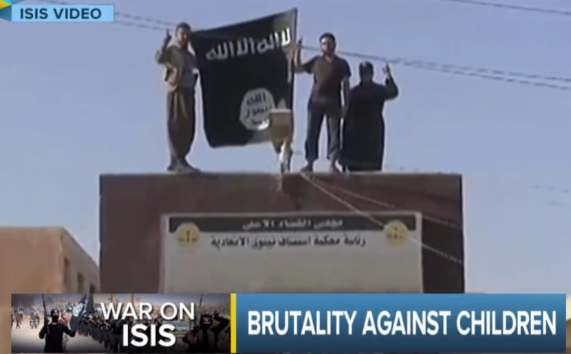 ISIS selling, crucifying children