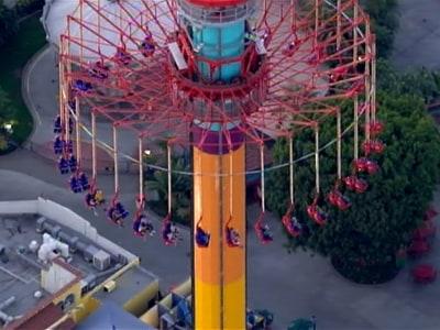 Knott's Berry Farm visitors stuck on thrill ride 300 feet ...