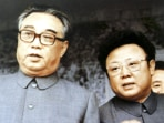 Image: File photo of Kim Il-sung and  Kim Jong-il in Pyongyang