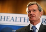 Image: Senate Finnce Committe Chairman Max Baucus remarks on health care reform.
