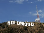 Image: Hollywood Sign Repainting Project Completed With LA Mayor Antonio Villaraigosa