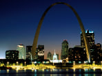 Image: St. Louis evening skyline