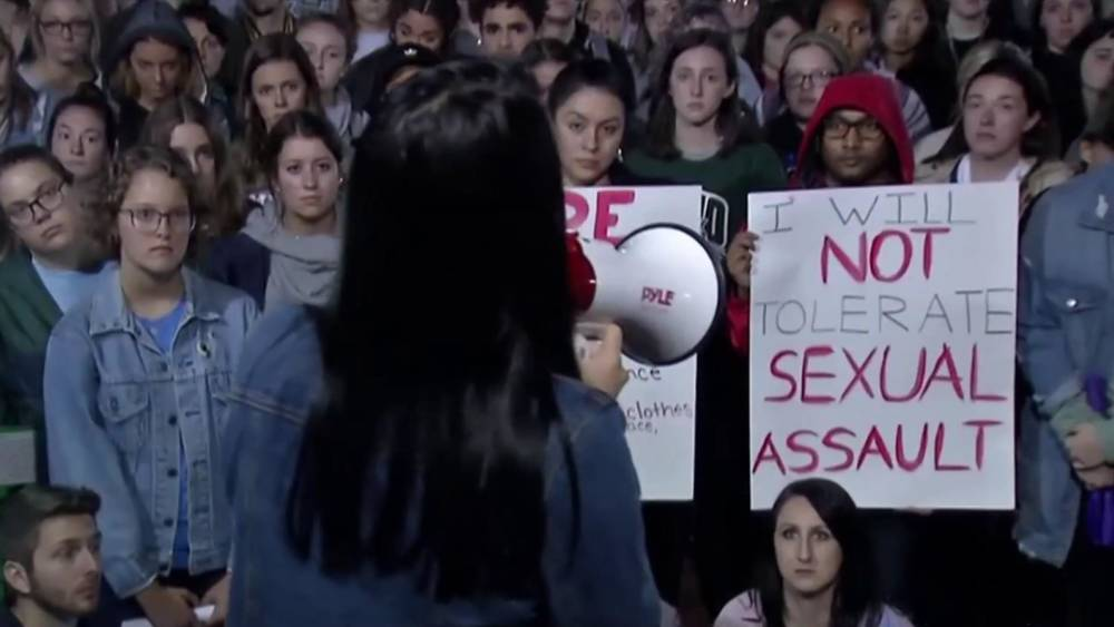 Ohio University students rally against sexual assault amid spate of rape  reports