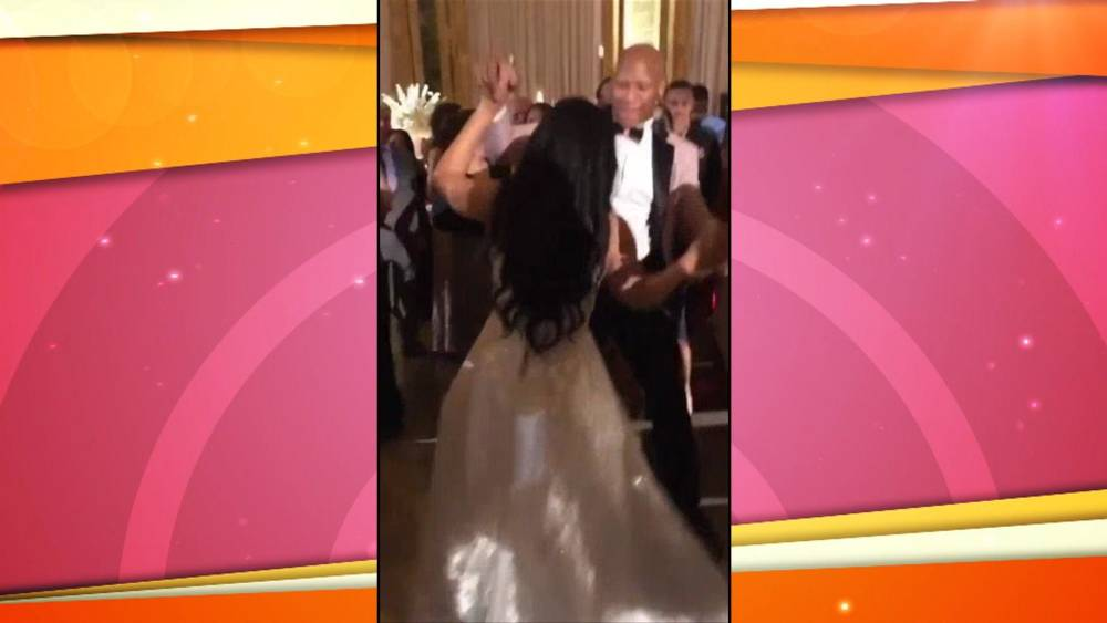 76be4ad047 NFL player Ryan Shazier dances at his wedding 17 months after spinal ...