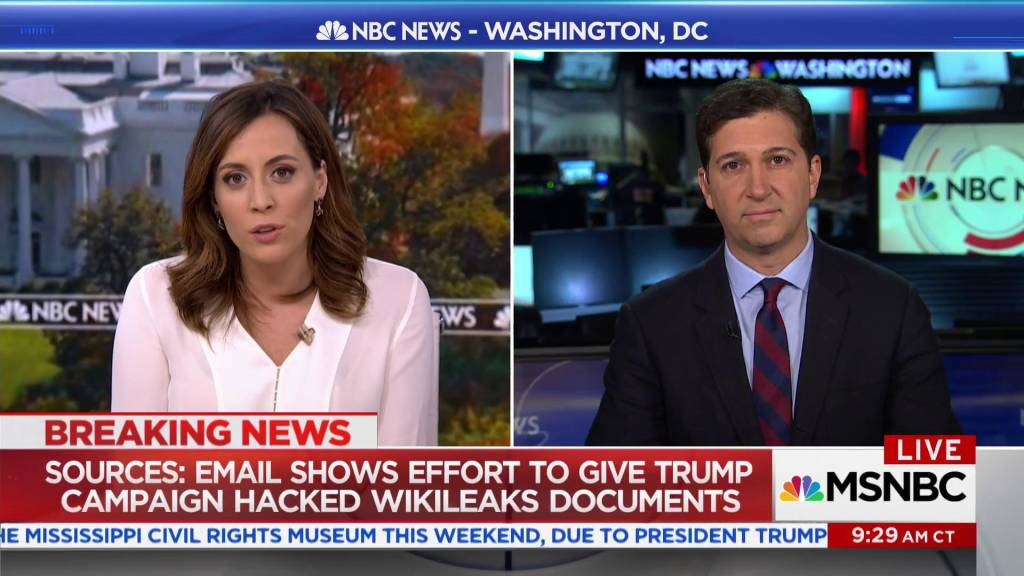 sources email shows effort to give trump camp hacked wikileaks  sources email shows effort to give trump camp hacked wikileaks documents
