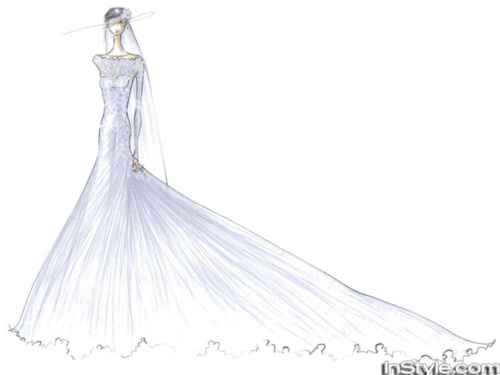 Designers sketch Kate\'s wedding gown