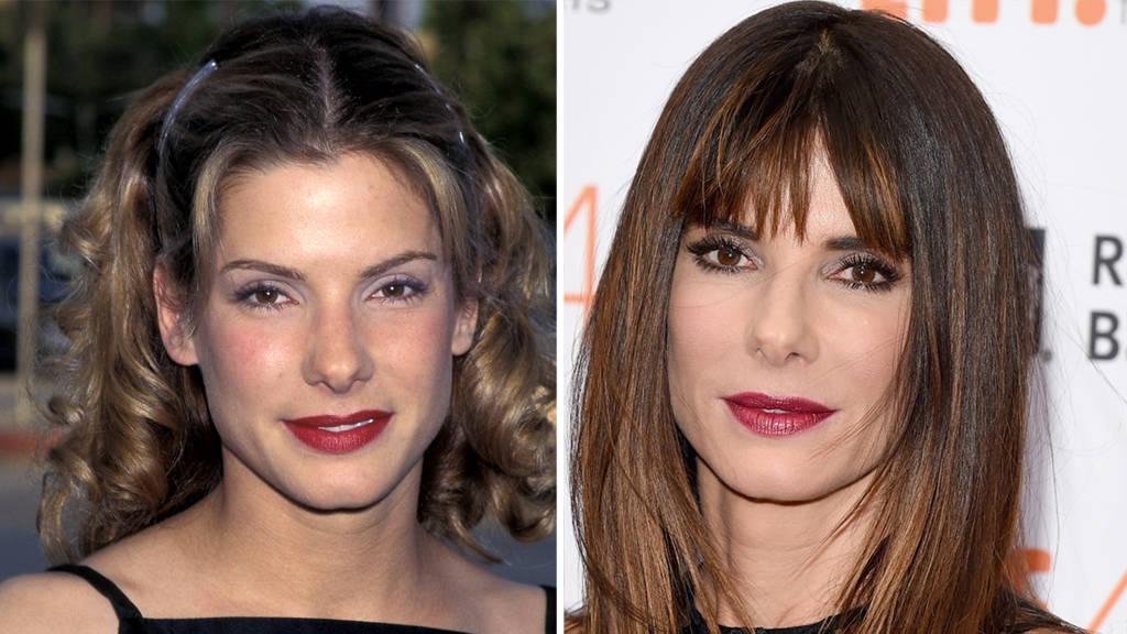 Sandra Bullocks Hair Evolution