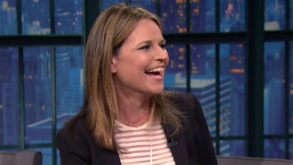 Savannah Guthrie Reveals Career Highlight To Seth Meyers On Late
