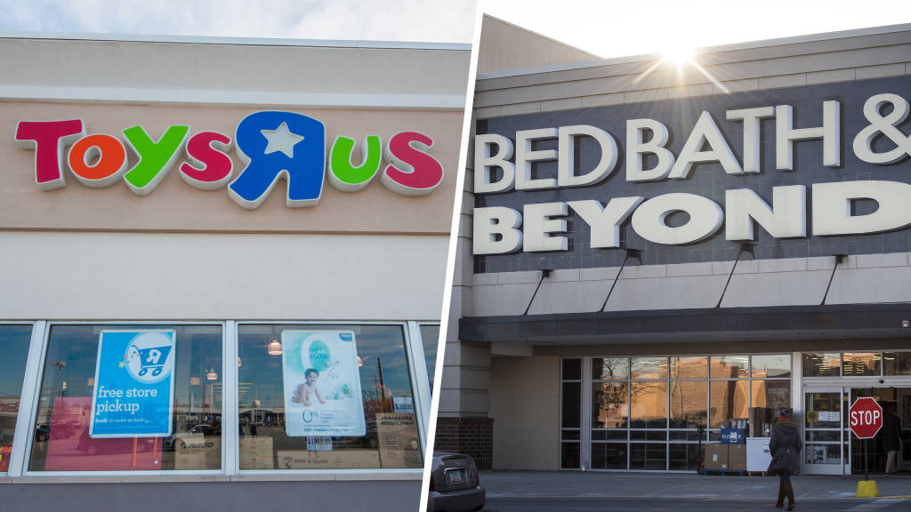 You can exchange Toys \'R\' Us gift cards for Bed Bath & Beyond cards