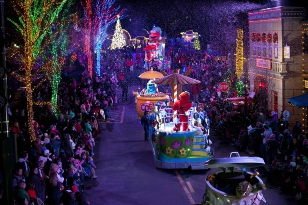 celebrate winter holidays at americas amusement parks