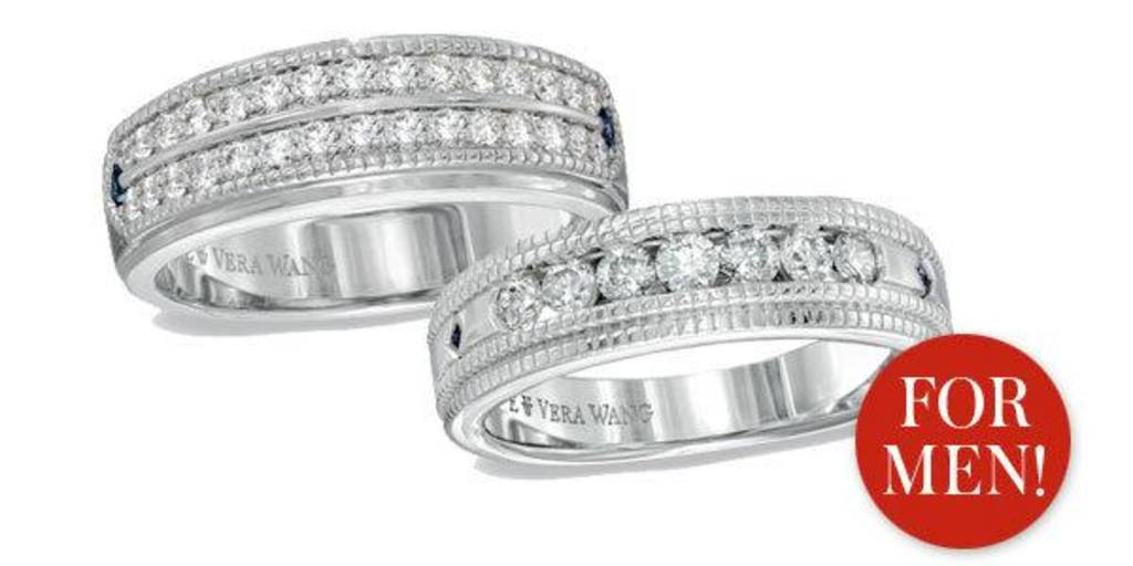 vera wang debuts diamond wedding rings for men - Vera Wang Wedding Ring