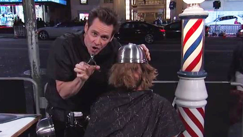 Jim Carrey Gives Fans Dumb And Dumber Haircuts On Jimmy Kimmel Live
