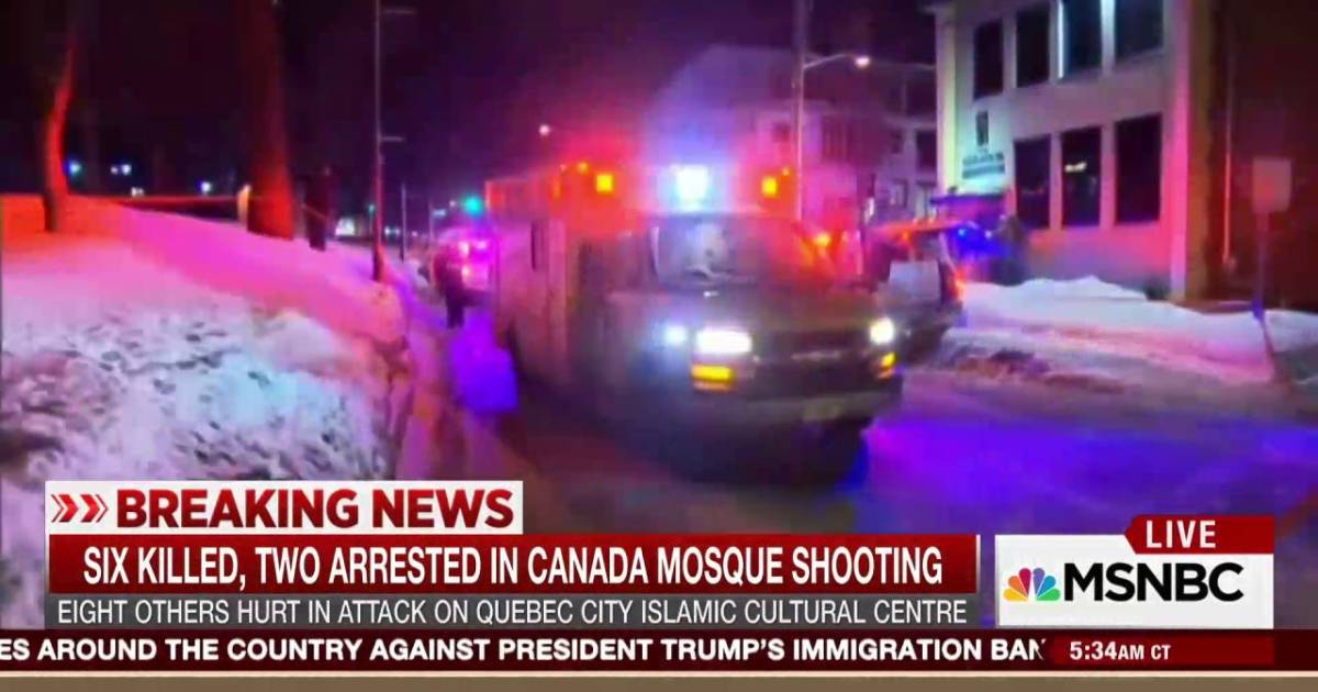 Mosque Shooting Live Stream Pinterest: Breaking: 6 Killed, 2 Arrested In Canadian Mosque Shooting
