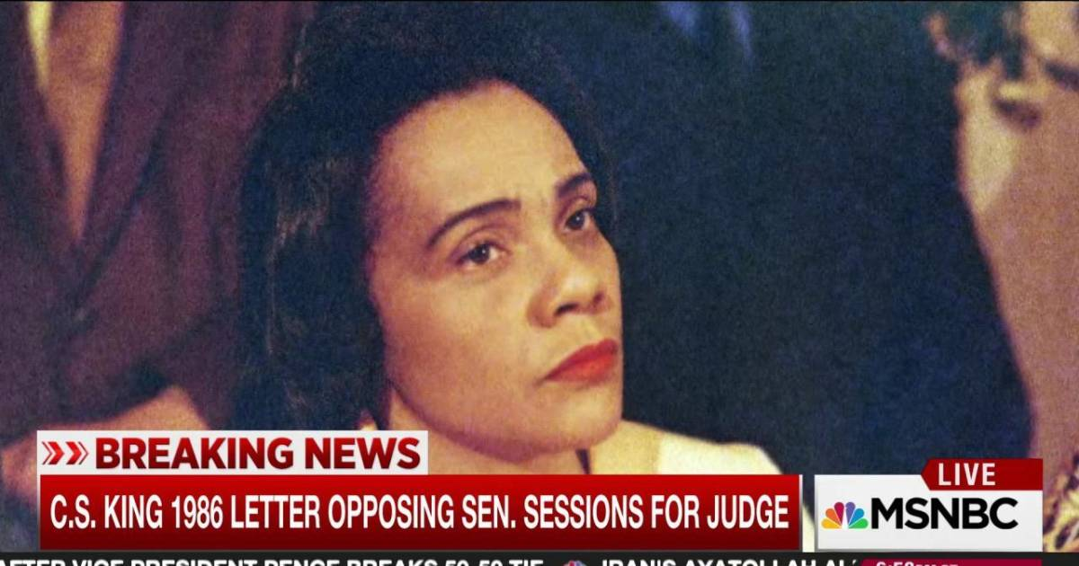 maddow reads parts of coretta scott king's letter on sessions
