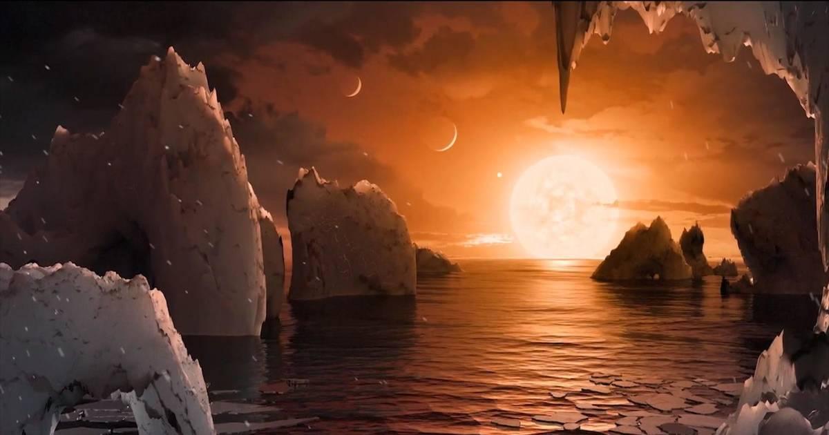 NASA reveals 7 Earth-size planets orbiting dwarf star