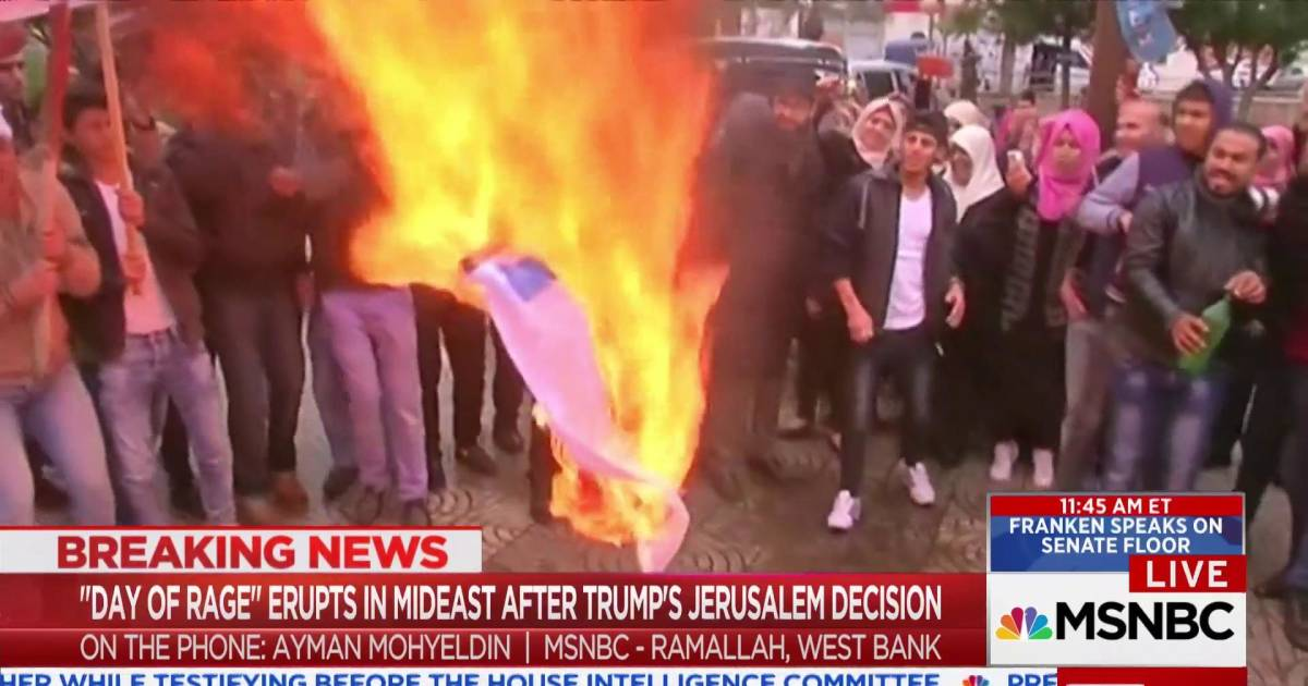 'Day of Rage' erupts in Mideast after Trump's Jerusalem decision