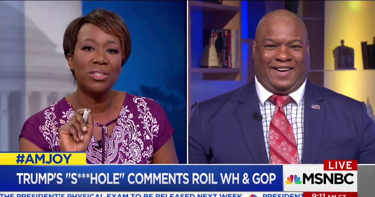 Trump 's***hole' comments doubted by pastor on AM JOY