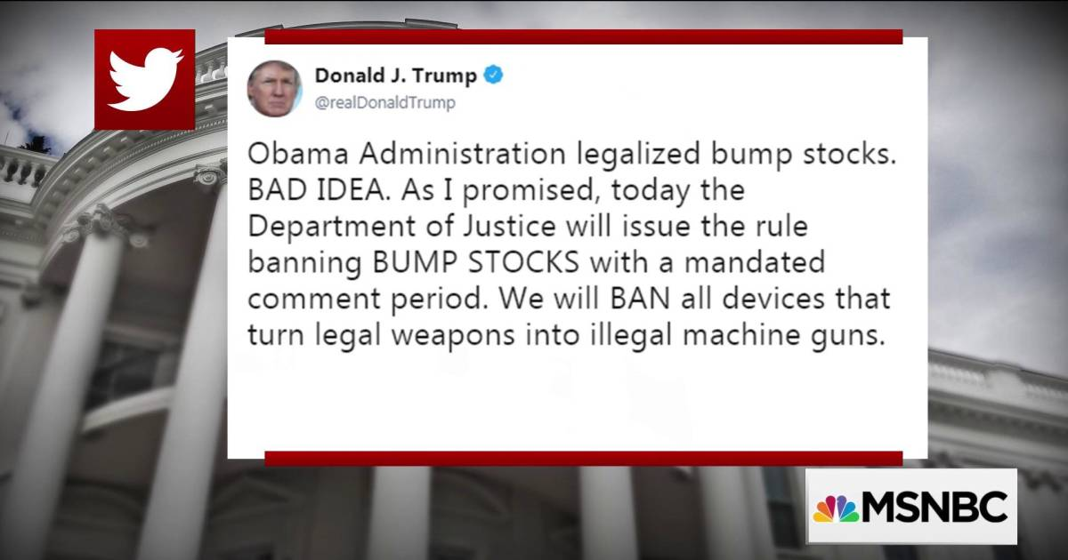 Trump Tweets He S Banning Bump Stocks Ahead Of March For