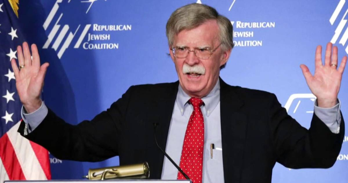 John Bolton will reach for the military, says former admiral