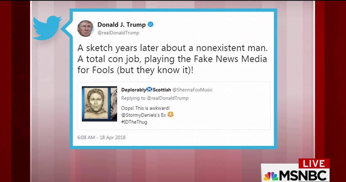 Trump tweets sketch from Stormy Daniels a 'total con job'