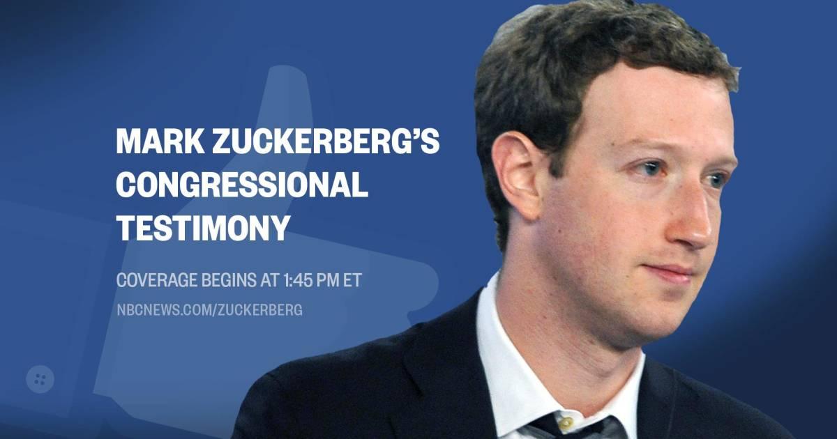 Mark Zuckerberg Testimony Facebook Ceo Testifies Before