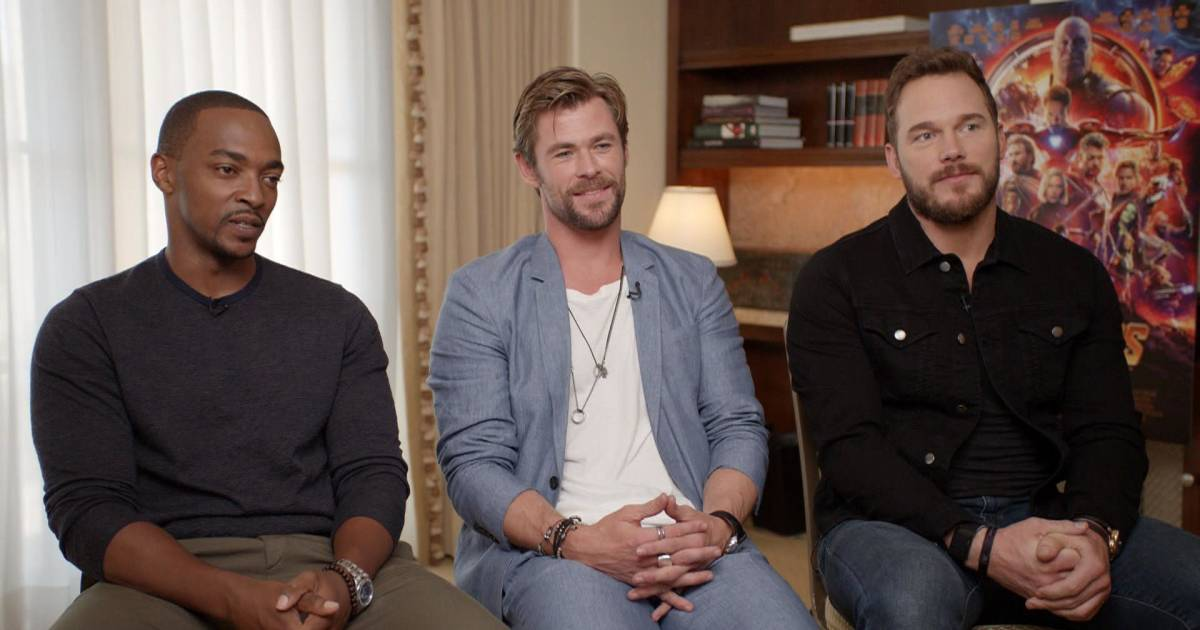 Chris Pratt, Chris Hemsworth and Anthony Mackie talk 'Avengers: Infinity War'