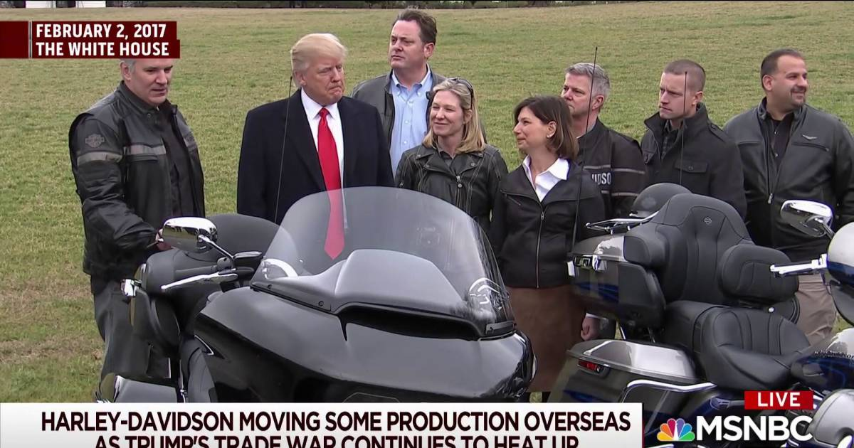 Harley Davidson: Why Trump Shouldn't Be Surprised By Harley Davidson's Move
