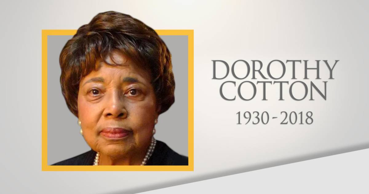Life well lived: Civil rights movement hero Dorothy Cotton dies at 88