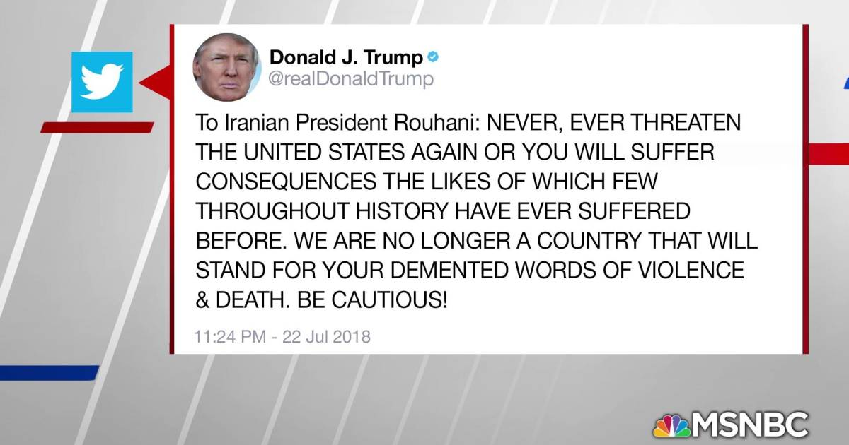 House Gop Is Determined To Make It >> In all caps, Trump threatens war with Iran