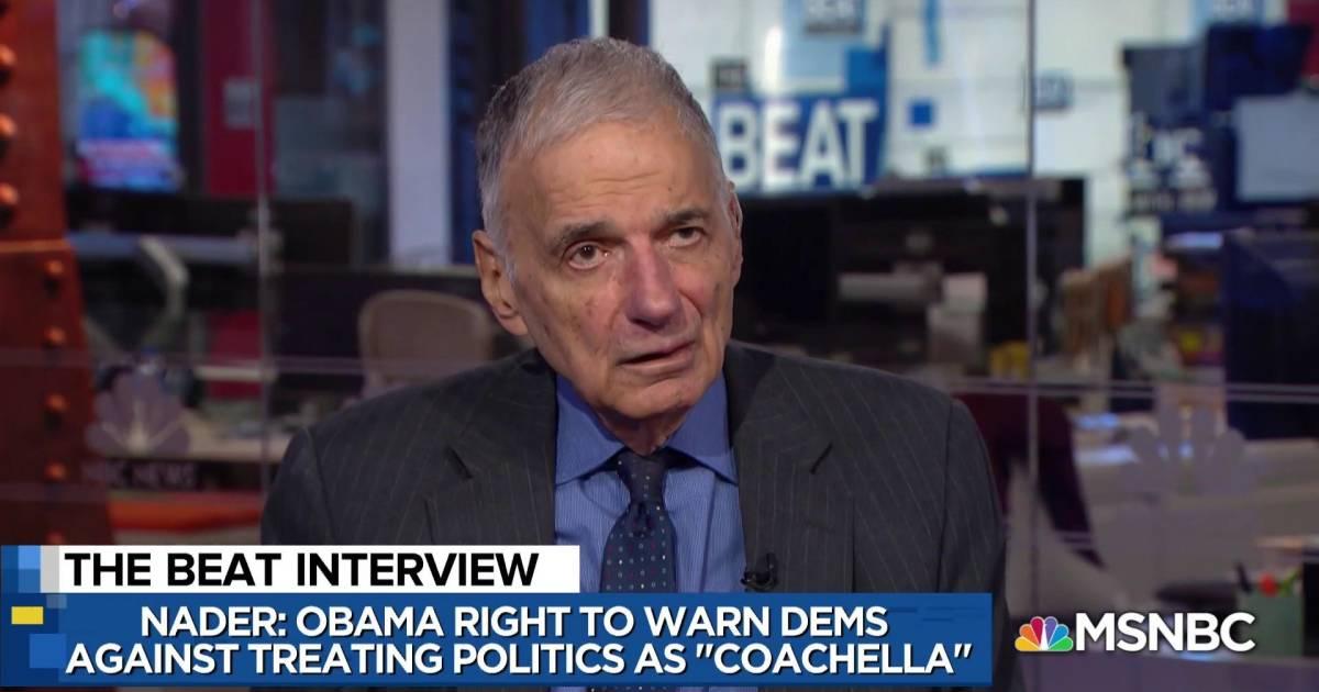 Liberal shock: Ralph Nader touts Bloomberg 2020
