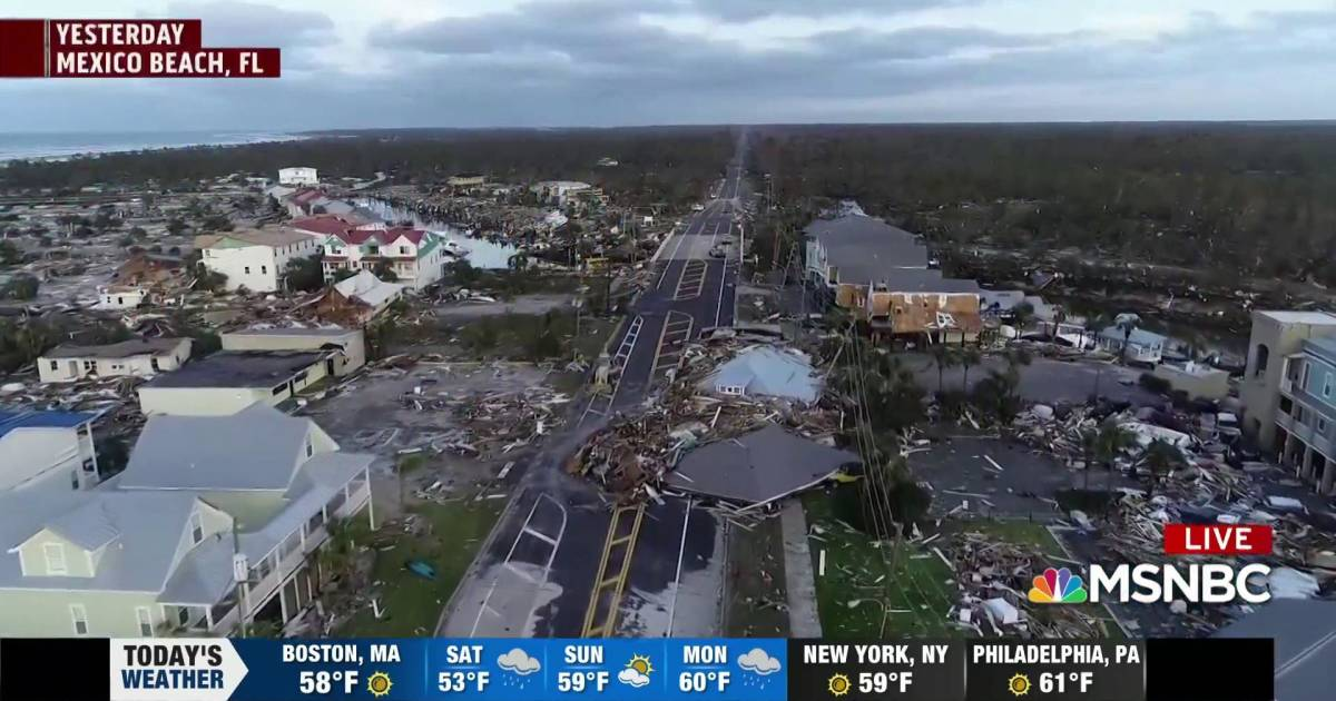 Drone footage shows how Michael devastated town