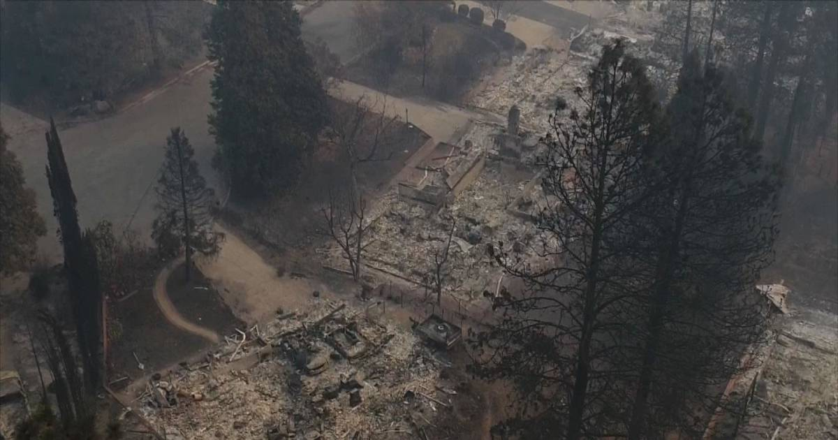 Watch devastation left behind from wildfires in Paradise ...