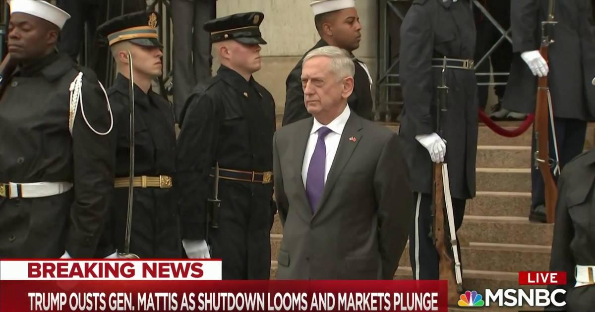 'This is different:' Mattis out, shutdown looms, stocks fall, DOJ turmoil