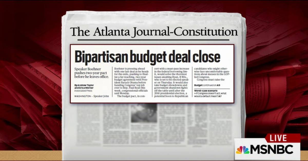 Congress White House Reach Budget Deal