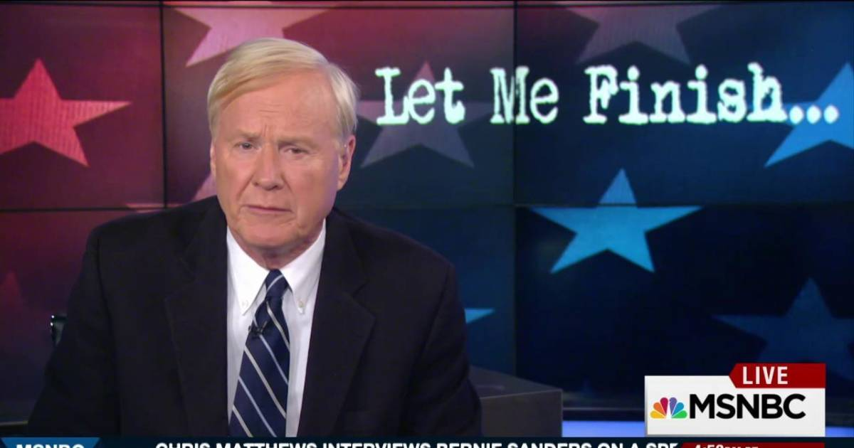 """a study of politics in chris matthews hardball Msnbc has a chris matthews problem: """"hardball"""" host needs to address conflict-of-interest questions now he's mostly ignored questions about how contributors to wife's campaign landed on """"hardball."""