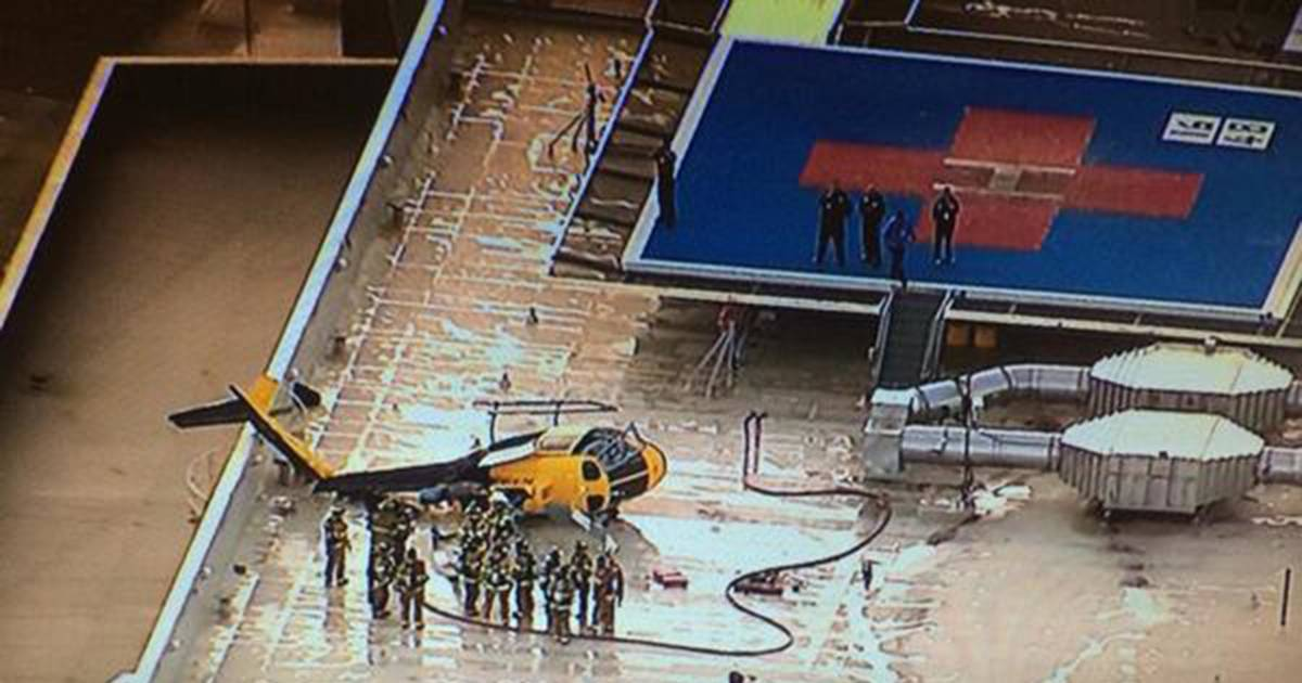Helicopter Crashes On New Mexico Hospital Roof
