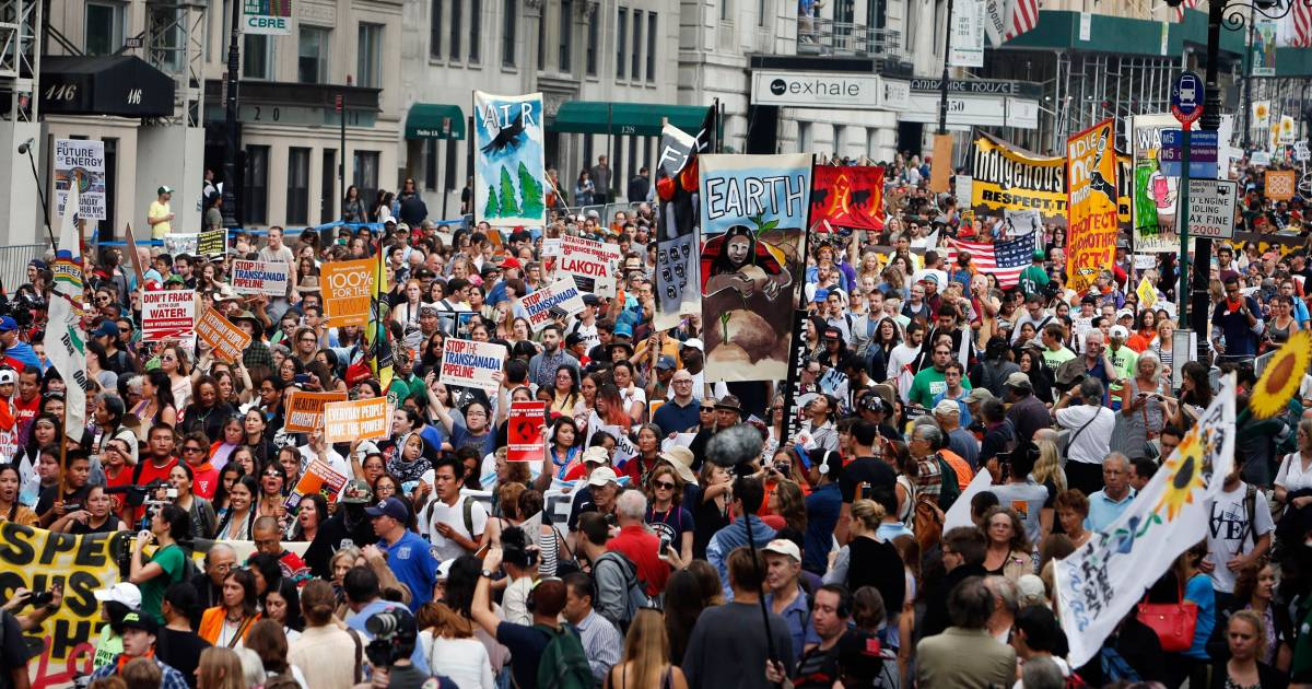 Thousands March for Climate Change Before United Nations ...