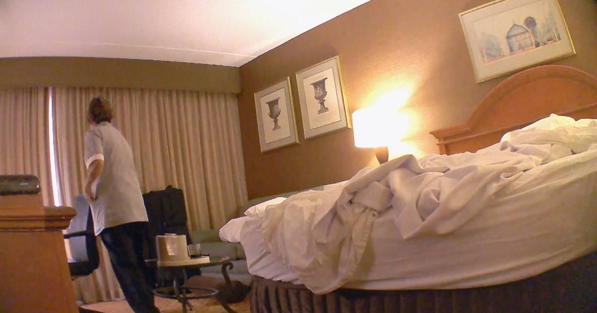 hidden camera shows how well hotel maids clean