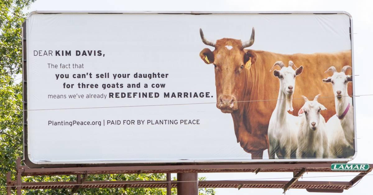 Kim Davis Mocked by 'Marriage' Billboard in Her Hometown